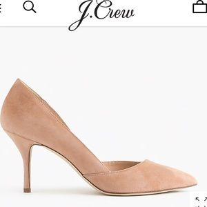 NEVER WORN Jcrew Colette Suede D'Orsay pump sz7.5